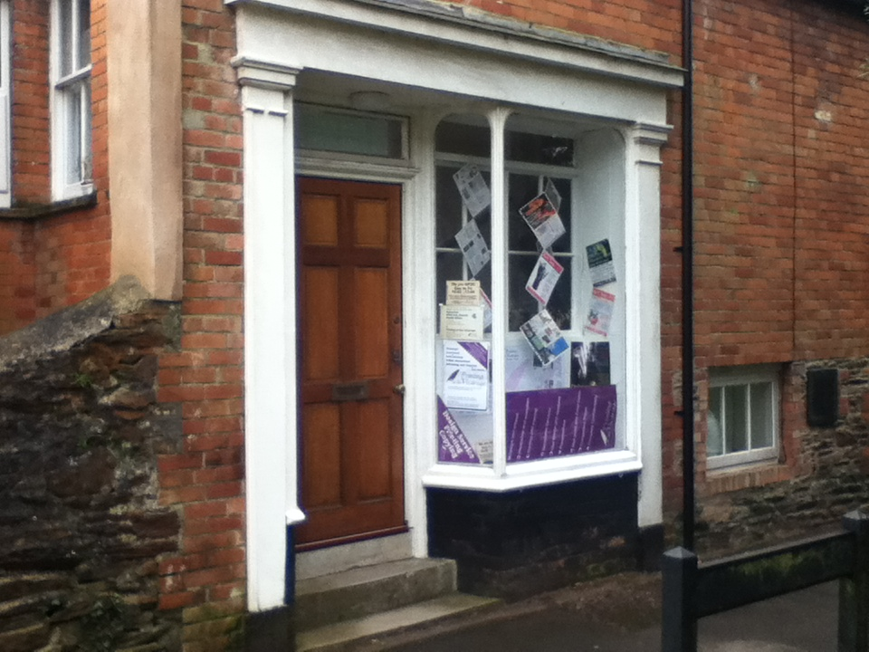 Printing at the Vicarage shop front